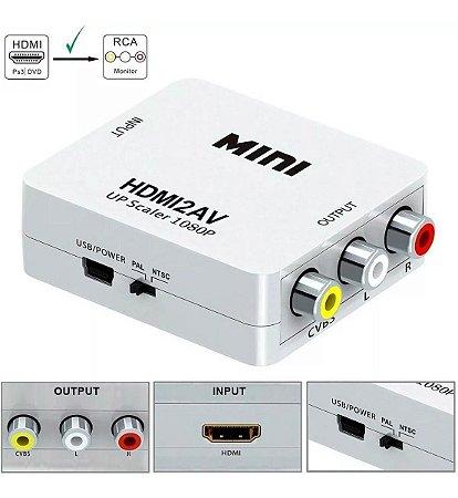Mini Adaptador Conversor De Hdmi P/ AV - Hdmi2av