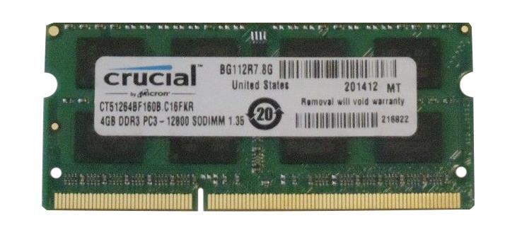 Memória Notebook DDR3L 4GB Crucial 1600MHZ