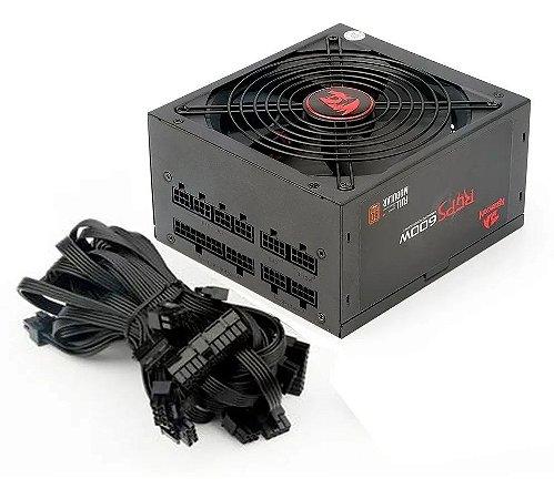 Fonte 600w Redragon Rgps-600w Full Modular Bivolt 80 Plus