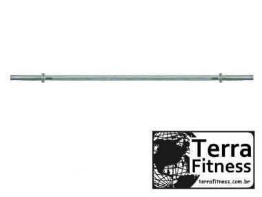 Barra maciça cromada 120cm roscada - Terra Fitness