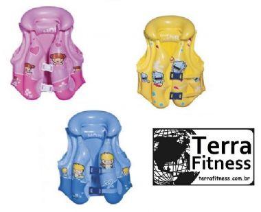 Colete inflável infantil para piscina - 03 a 06 anos - Terra Fitness