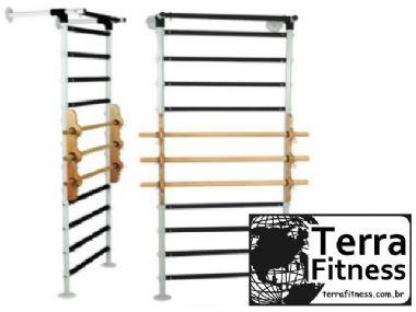 Espaldar em aço tubular / madeira 12 bastões - Terra Fitness