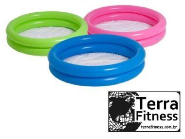 Piscina banheira infantil inflável 130 Litros - Ø107cm X 23cm - Terra Fitness