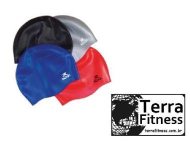 Touca de natação em silicone - Tamanho único - Terra Fitness