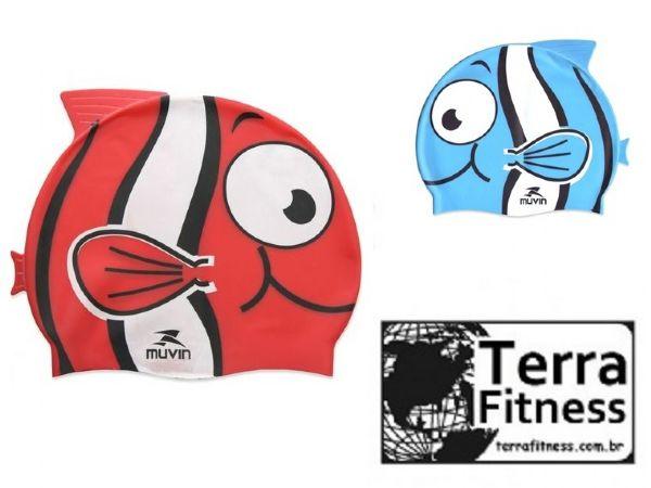 Touca de natação em silicone  Infantil - Terra Fitness