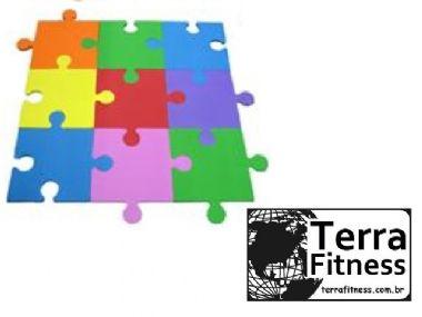 Tatame Quebra cabeça eva 36cmX36cmX10mm - Terra Fitness