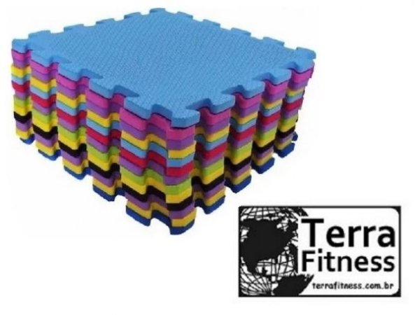 Tatame eva piso de borracha 30cmX30cmX8mm - Terra Fitness