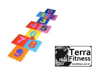 Tapete Amarelinha 10 peças borracha EVA 10mm - Terra Fitness