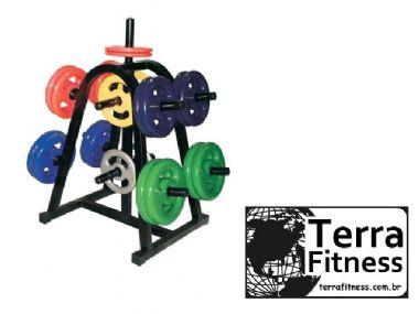 Suporte expositor 200kg de anilha - Terra Fitness
