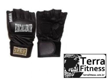 Luva MMA .. Excalibur Preta - Terra Fitness
