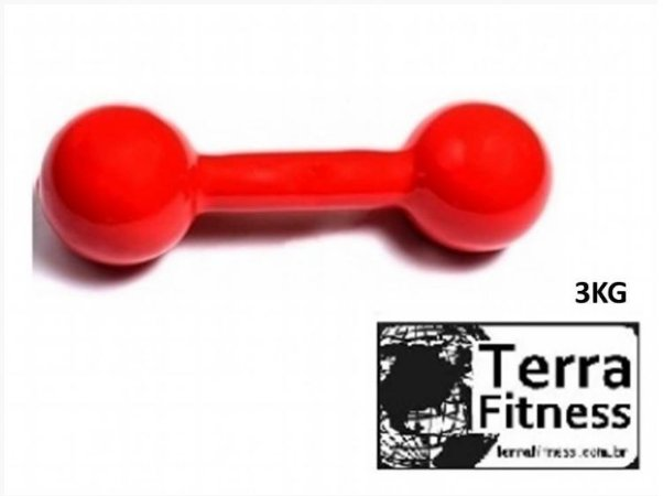 Halter emborrachado ........ 3kg- Terra Fitness