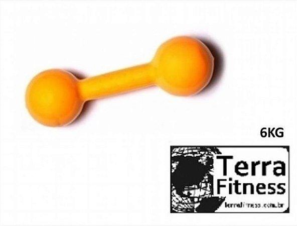 Halter emborrachado.....  6kg- Terra Fitness