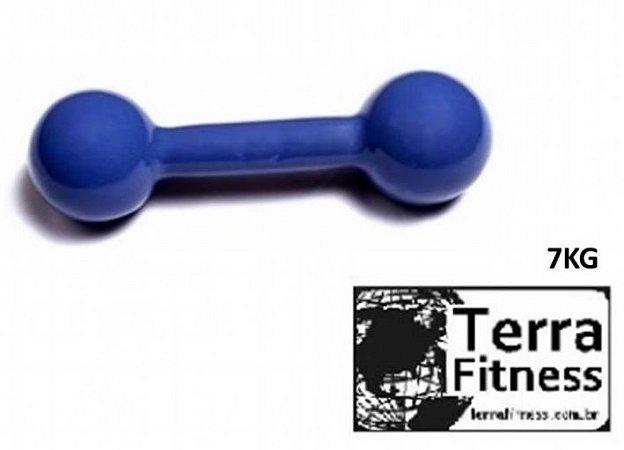 Halter emborrachado....  7kg- Terra Fitness