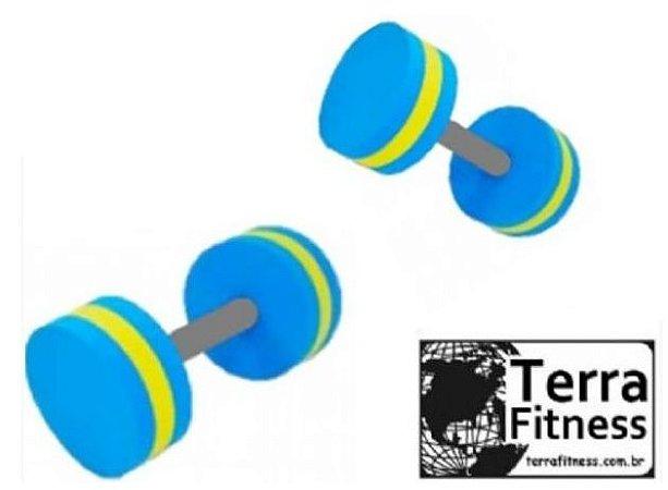 Halter hidroginástica Circular de esforço  1kg a 2kg - Par  -Terra Fitness