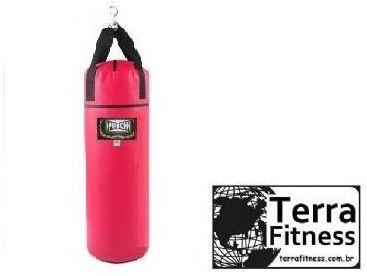 Saco de pancada Vermelho 90cmXØ28cm / 25kg - Terra Fitness