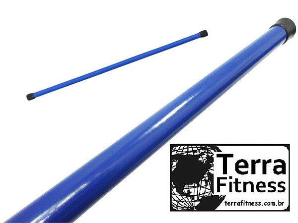 Bastão madeira Revestido 150cmX23mm  sem carga + ponteira - Terra Fitness