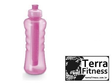 Squeeze c/ tubo de gelo 580ml Rosa - Terra Fitness