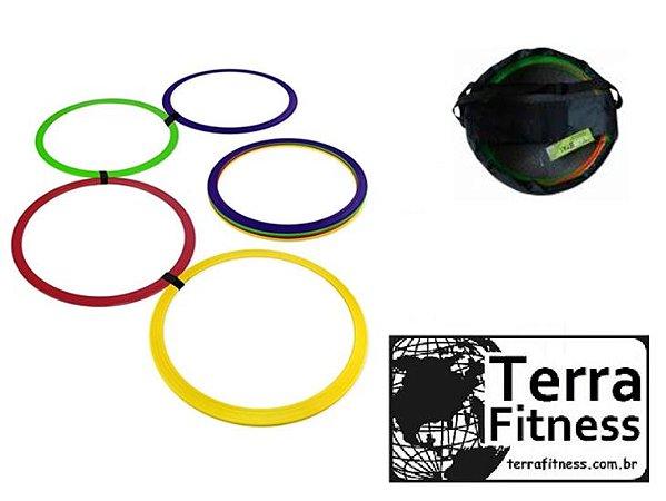 Grade de Agilidade tipo Argola 12 pçs + bolsa - Terra Fitness