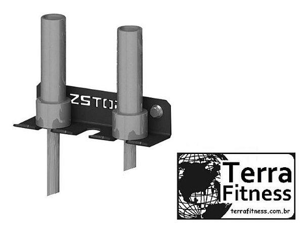 Suporte de parede para 3 barras - Terra Fitness