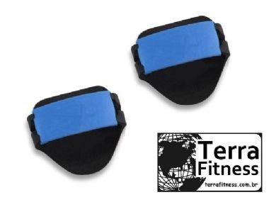 Luva Palmar Musculação em Eva com 2 Ajustes / Par - Az - Terra Fitness