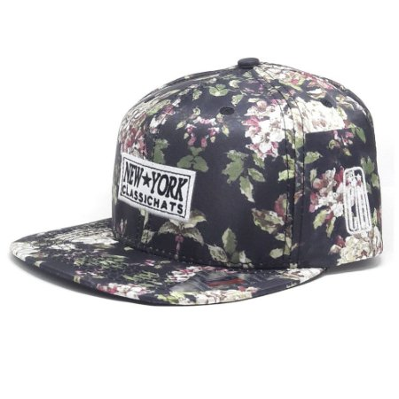 Boné Classic Hats Aba Reta florido New York Snapback - Garcia Surf 3c97a4eba77
