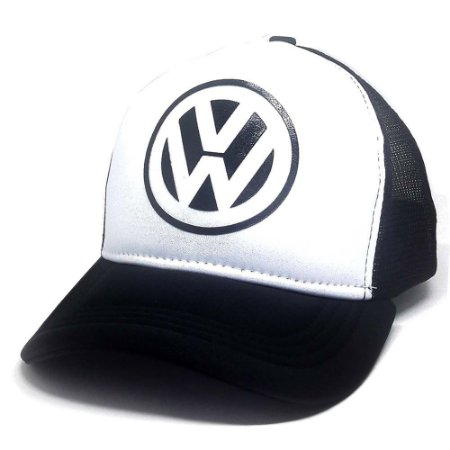 Boné Volkswagen Aba Curva Trucker Snapback + Cordão Volkswagen ... 8edc89d4ba9f6