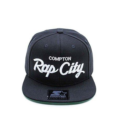 Boné Aba Reta Starter Rap City Preto