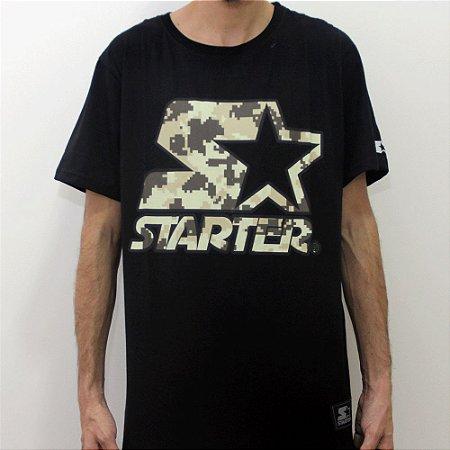 Camiseta Starter Digi Camo - Preto