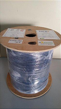 Bobina de Fibra Óptica Drop 1 Core G657A2 FTTH - LSZH, Steel Wire, Certificada ANATEL