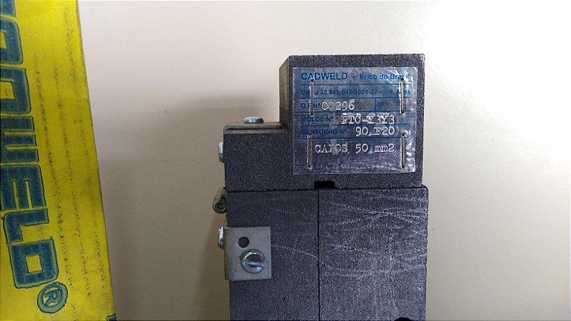 Molde de Grafite para conexões Cadweld PTC-Y3Y3 para cabos 50 mm² - Exotérmico - Aterramento