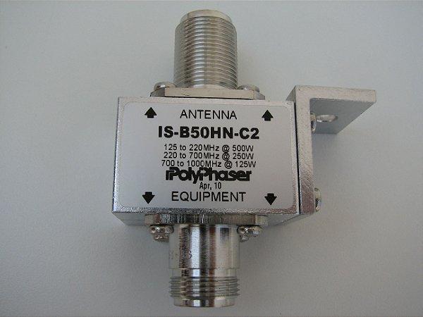 Protetor contra surto Coaxial Polyphaser - Nff bulkhead 125/1000MHz (500/125W)