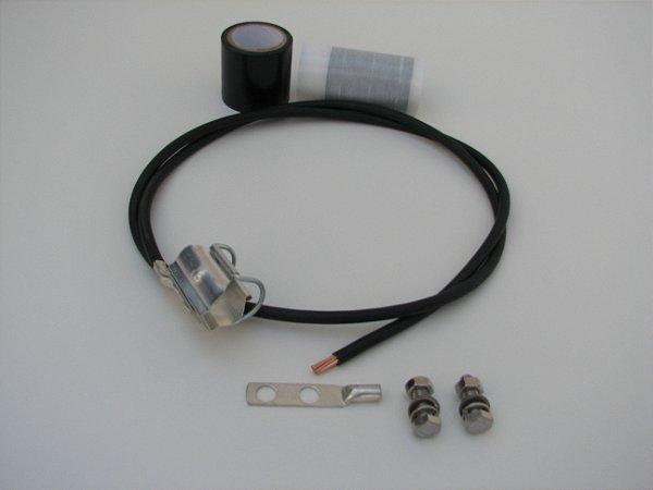 """Kit de Aterramento Clip-on p/ cabo alumínio de 7/8"""""""