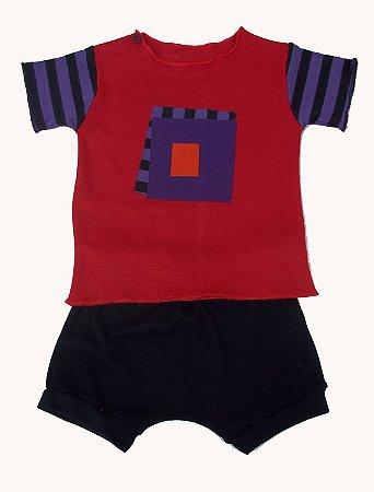 Conjunto Camiseta com Shorts para Bebê