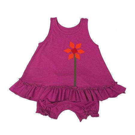 Vestido Orquidea para Bebê