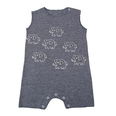Macacão para Bebê Cavado Cinza