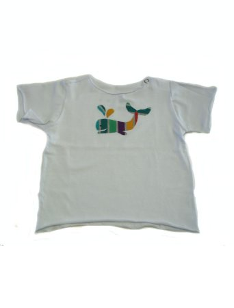 Camiseta Segunda Pele Branca Baleia