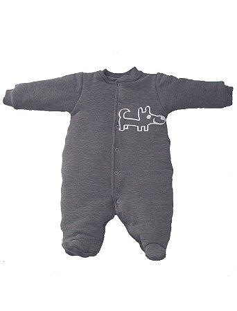 Macacão Esquimó Cinza Chumbo para bebê