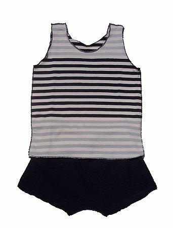 Conjunto Shorts e Regata Listrada para Bebê