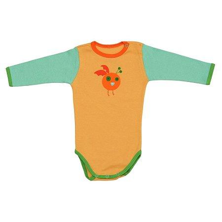 Body em Malha Amarela Etezinho para Bebê Unissex