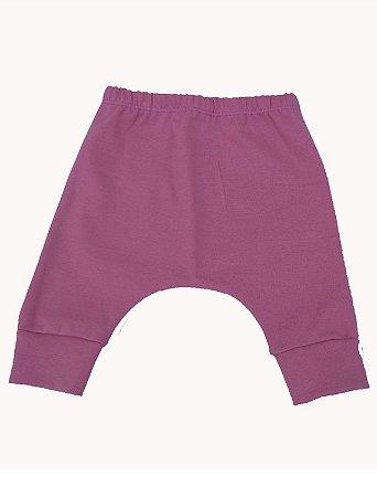 Calça Saruel em Malha Rosa para Bebê Feminino