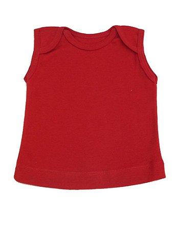 Camiseta Cavada Básica para Bebê Vermelha Unissex