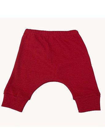 Calça Saruel em Malha Vermelha para bebê
