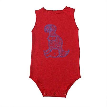 Body Segunda pele Cavado Vermelho para Bebê