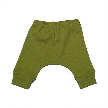Calça Saruel em Malha Verde Azeitona para Bebê