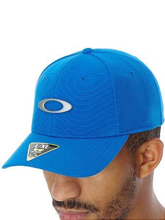 Bonè Oakley Tincan Azul Bebe Aba Curva S/m 57cm Linha Premium