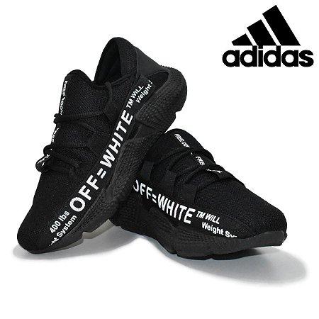Tênis Adidas Off White Masculino Importado Preto Pronta Entrega