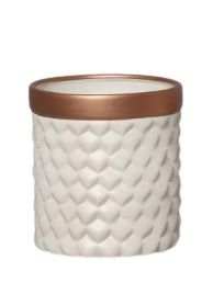 Vaso Geométrico Nude E Bronze M