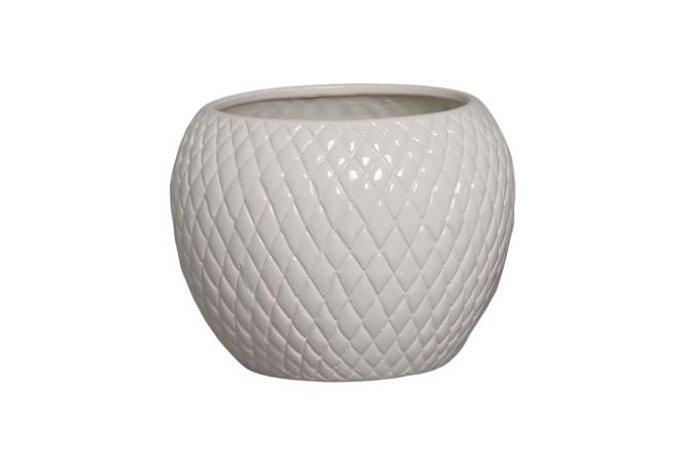 Cachepot de Cerâmica Creme Claro G 18,7x24,5 cm