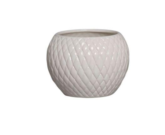 Cachepot de Cerâmica Creme Claro P 14,3x19,3 cm