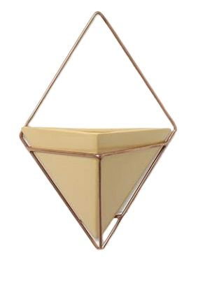 Vaso Amarelo Triangular - Linha Vasos de Parede